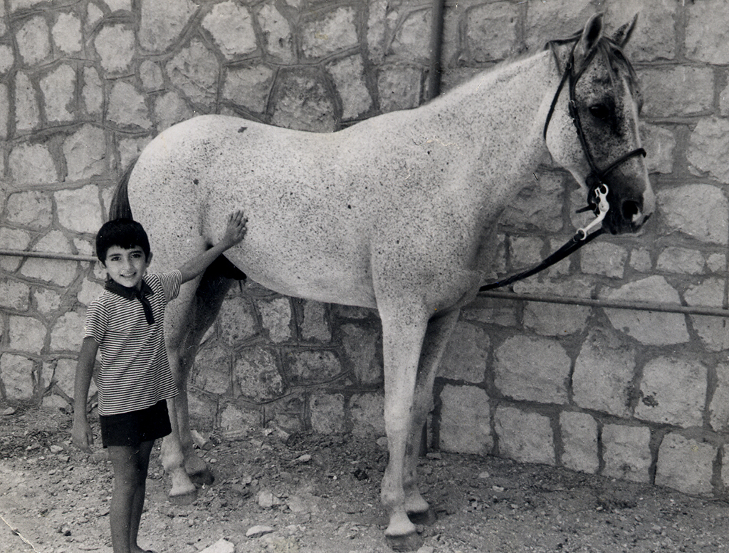 Bader near his home in Dhahran, Saudi Arabia, in 1974
