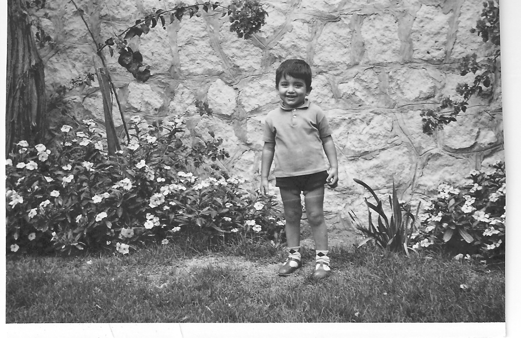 Bader at age 4 at his family home in Dhahran, Saudi Arabia, in 1969