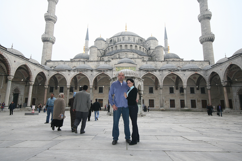 Bader and his wife Batoul during their honeymoon in Istanbul, Turkey, in 2009
