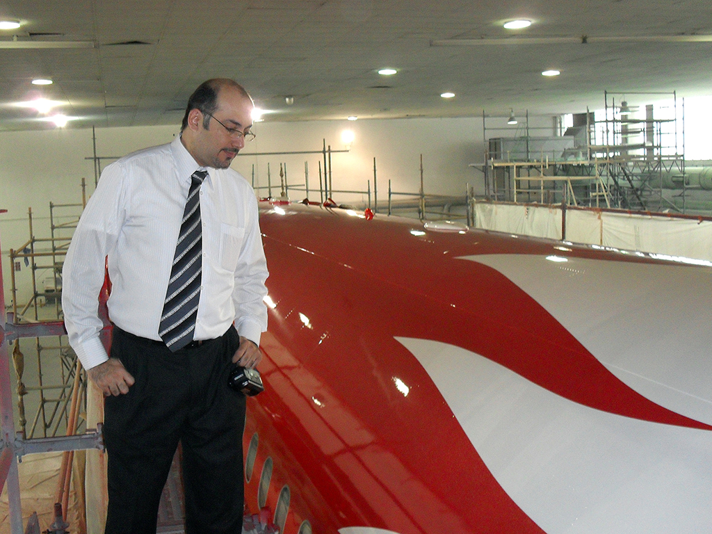 Final Inspection of aircraft before signing off in Norwich, UK in 2009