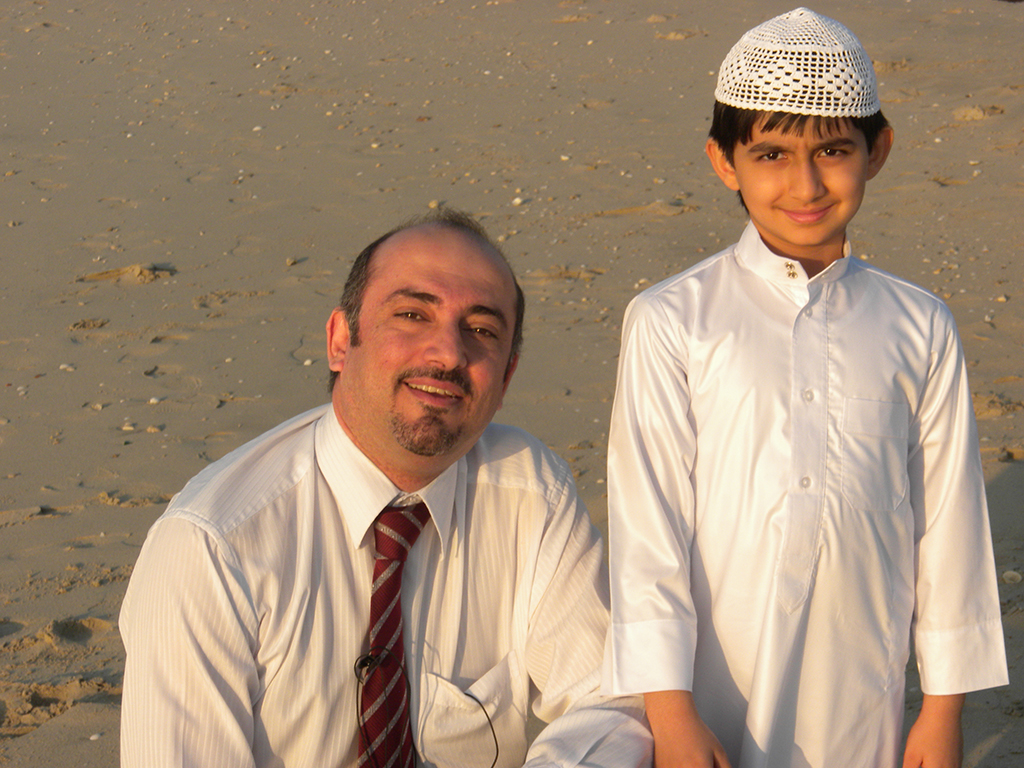 Bader and Hassan Shehabi who played the young Bader in the documentary movie the Purple Sea in January 2010