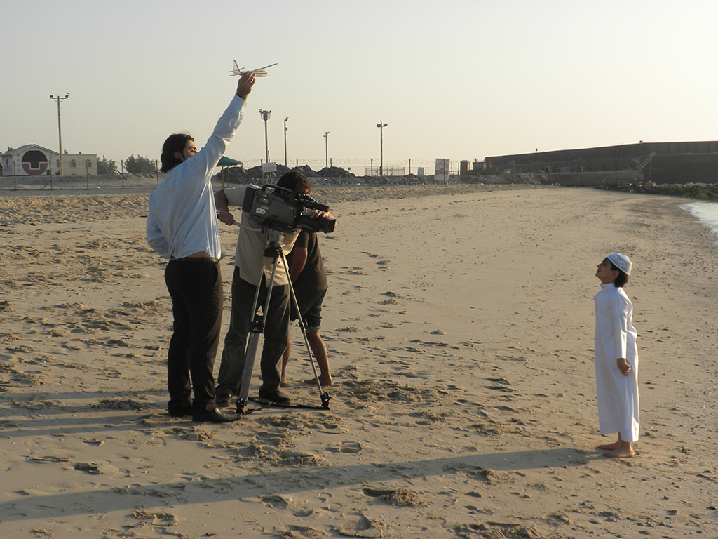 Documentery filming of the Purple Sea for Bahrain TV in January 2010